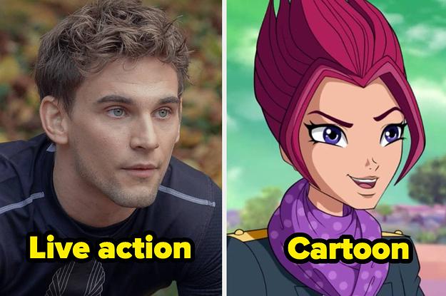 Fate The Winx Saga Cast Next To The Winx Cartoons
