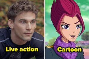 Riven in the live action vs riven in the cartoon