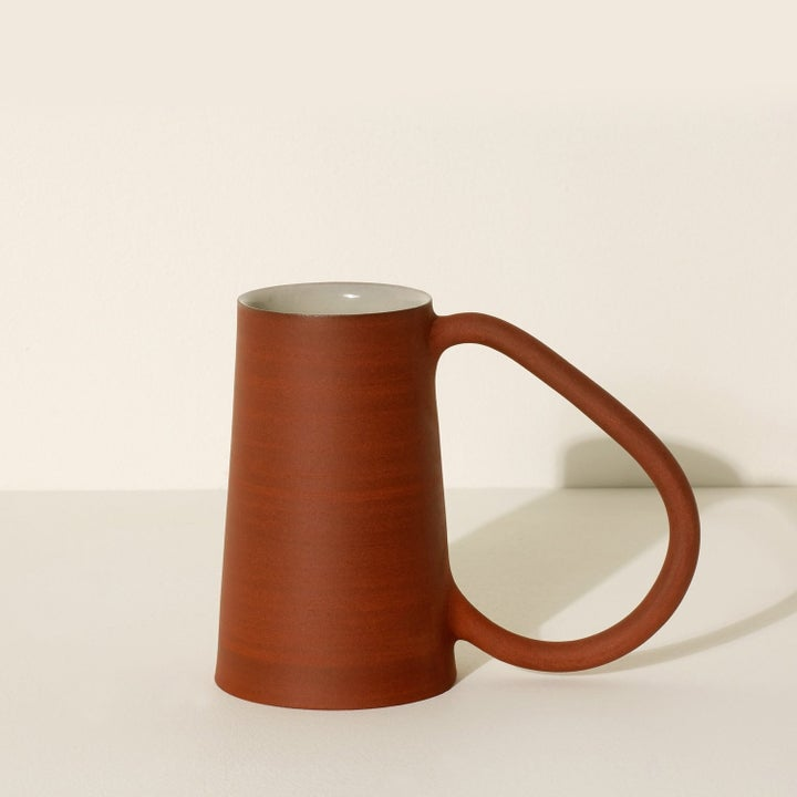 Ceramic artisan cup with large handle