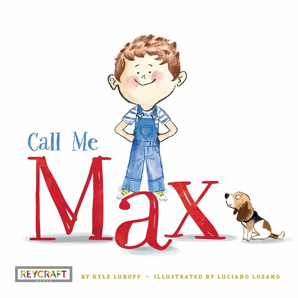 Max in some overalls with his little beagle dog