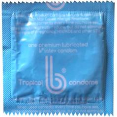 Light blue condom