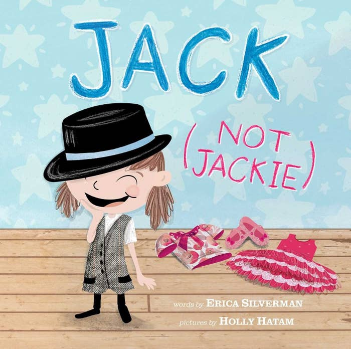 Jack on the cover wearing a vest and a top hat instead of a dress or ballet flats