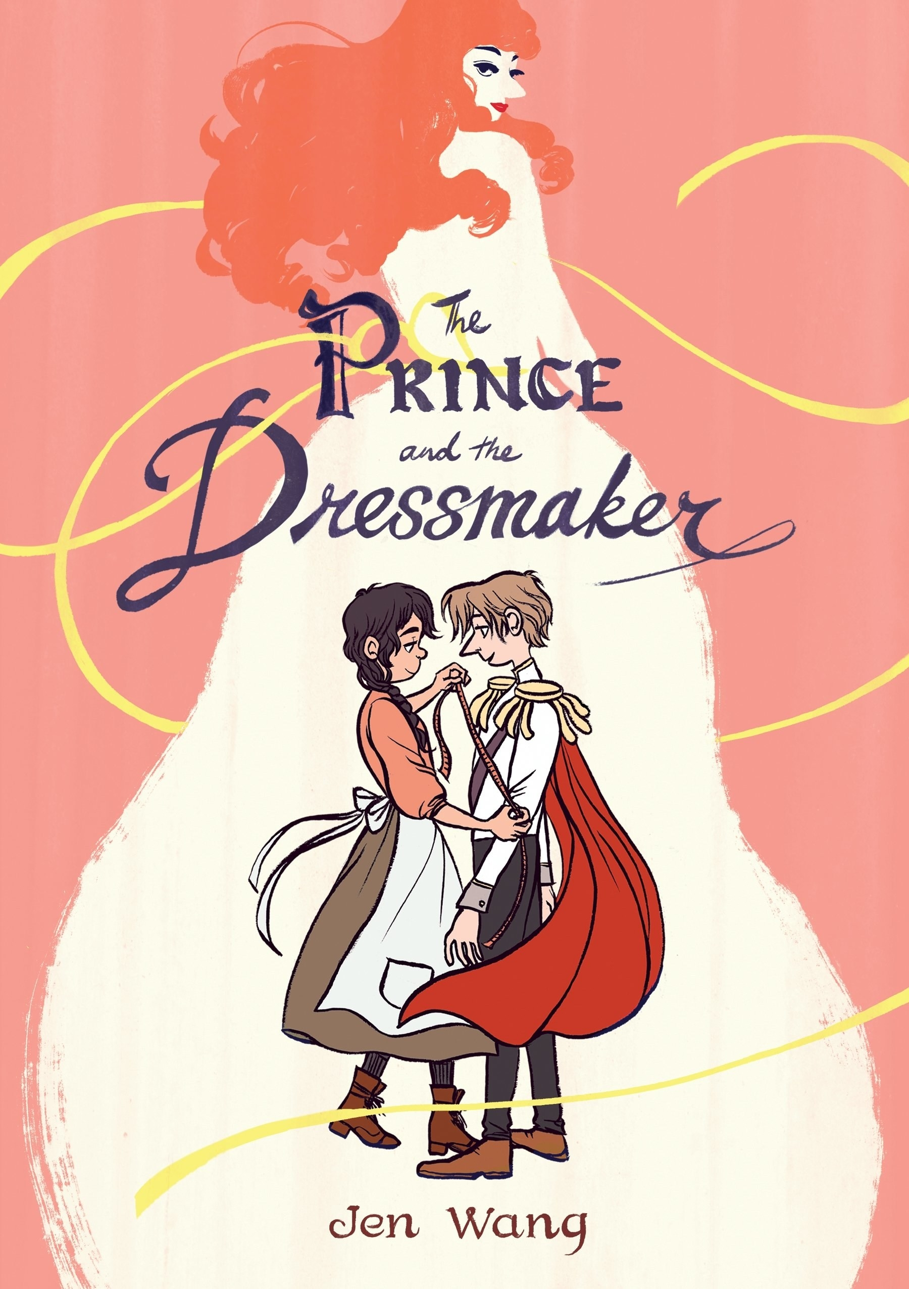 The prince and dressmaker looking into each other's eyes on the cover