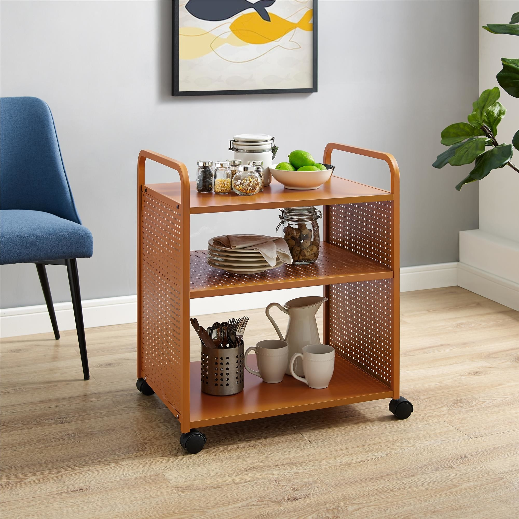 The bar and serving cart