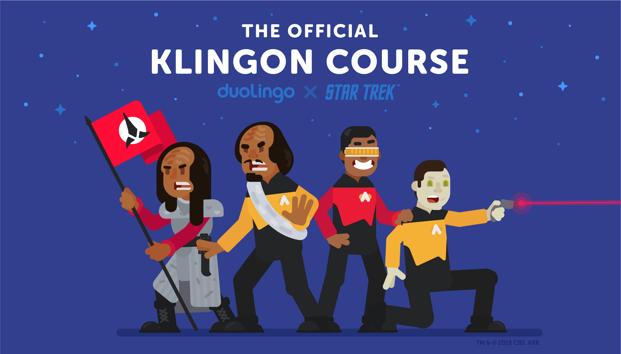 Star Trek illustrations introducing the Klingon course