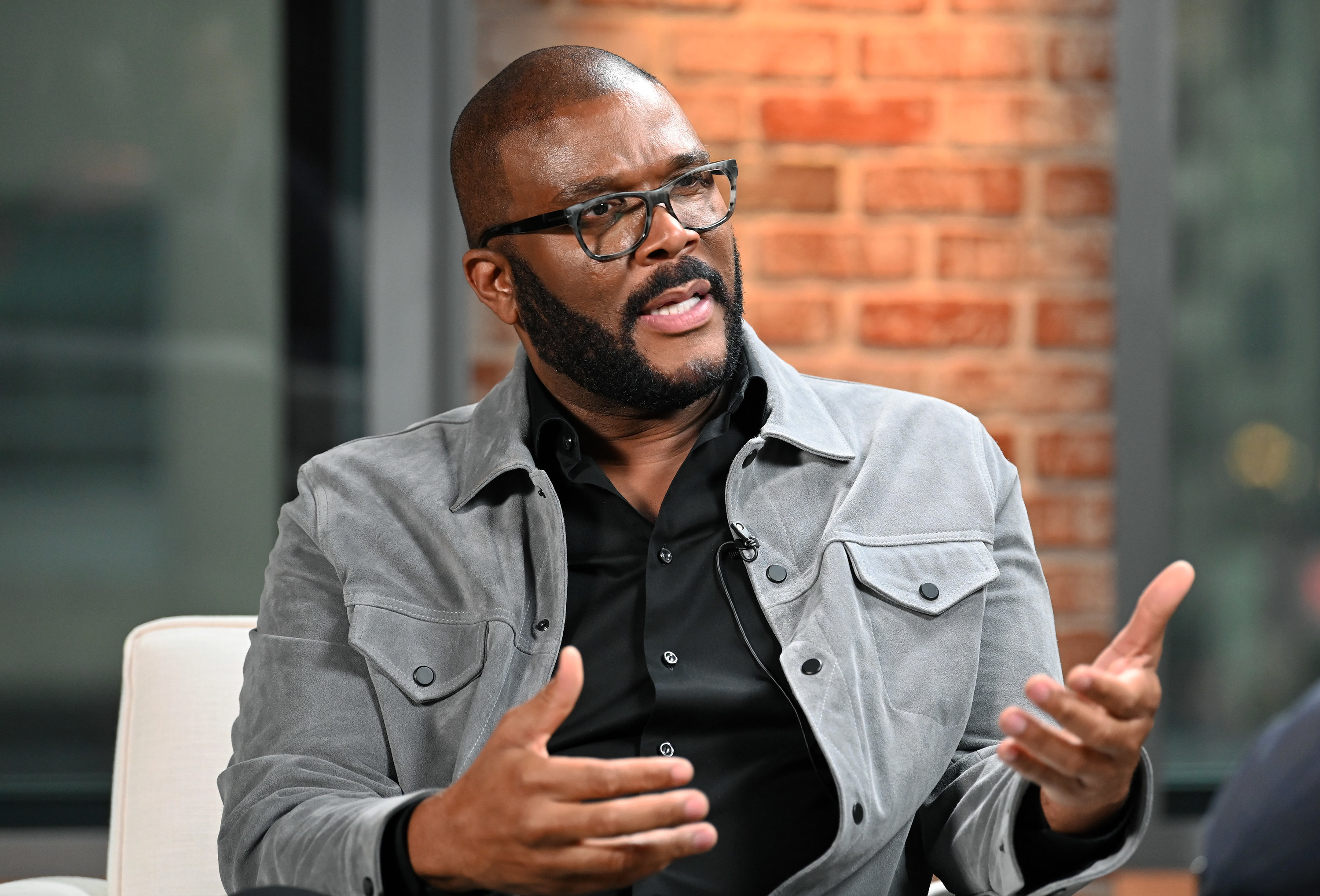 Actor/producer Tyler Perry speaks at the LinkedIn Studios in New York