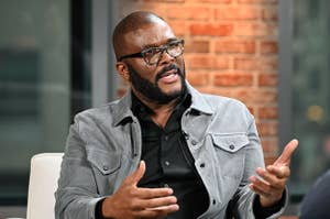 ctor/producer Tyler Perry visits LinkedIn Studios on January 13, 2020 in New York City.