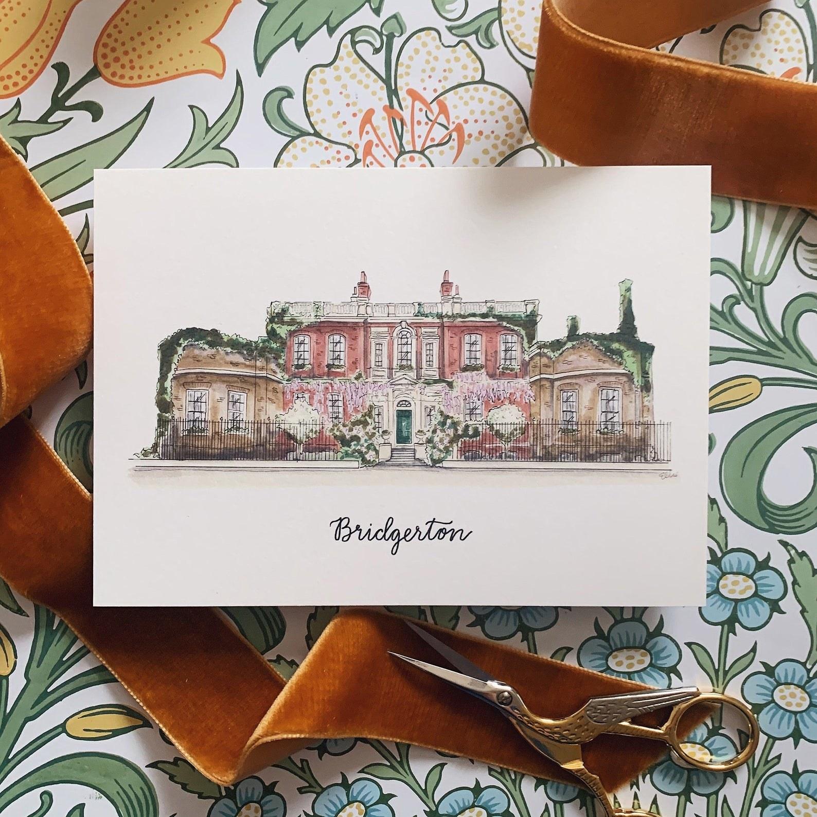 bridgerton house art print