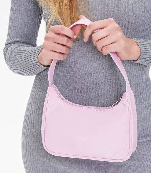 Model with a lilac bag