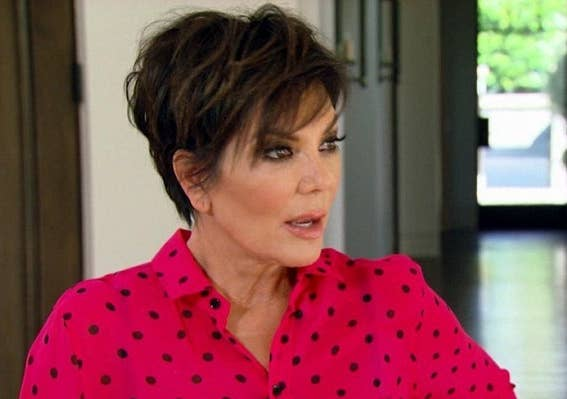 Another time when Kris Jenner looks caught off guard