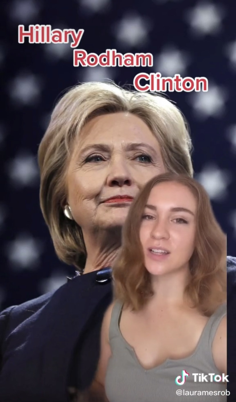 Hillary Clinton and a TikTok server