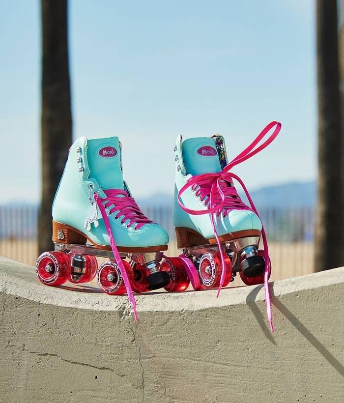 a pair of moxi beach bunny roller skates