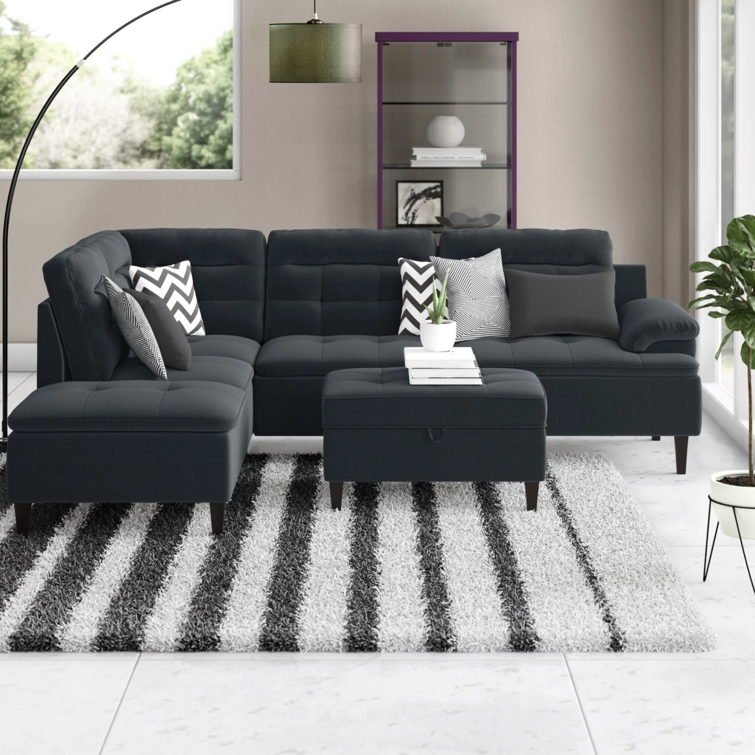 The sectional in black