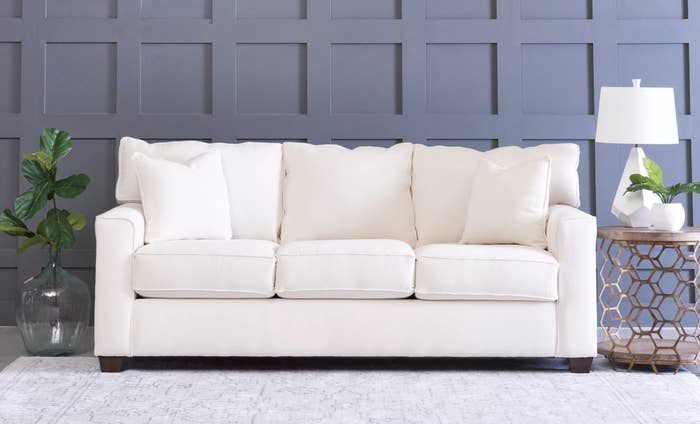 The sofa in classic bleach white