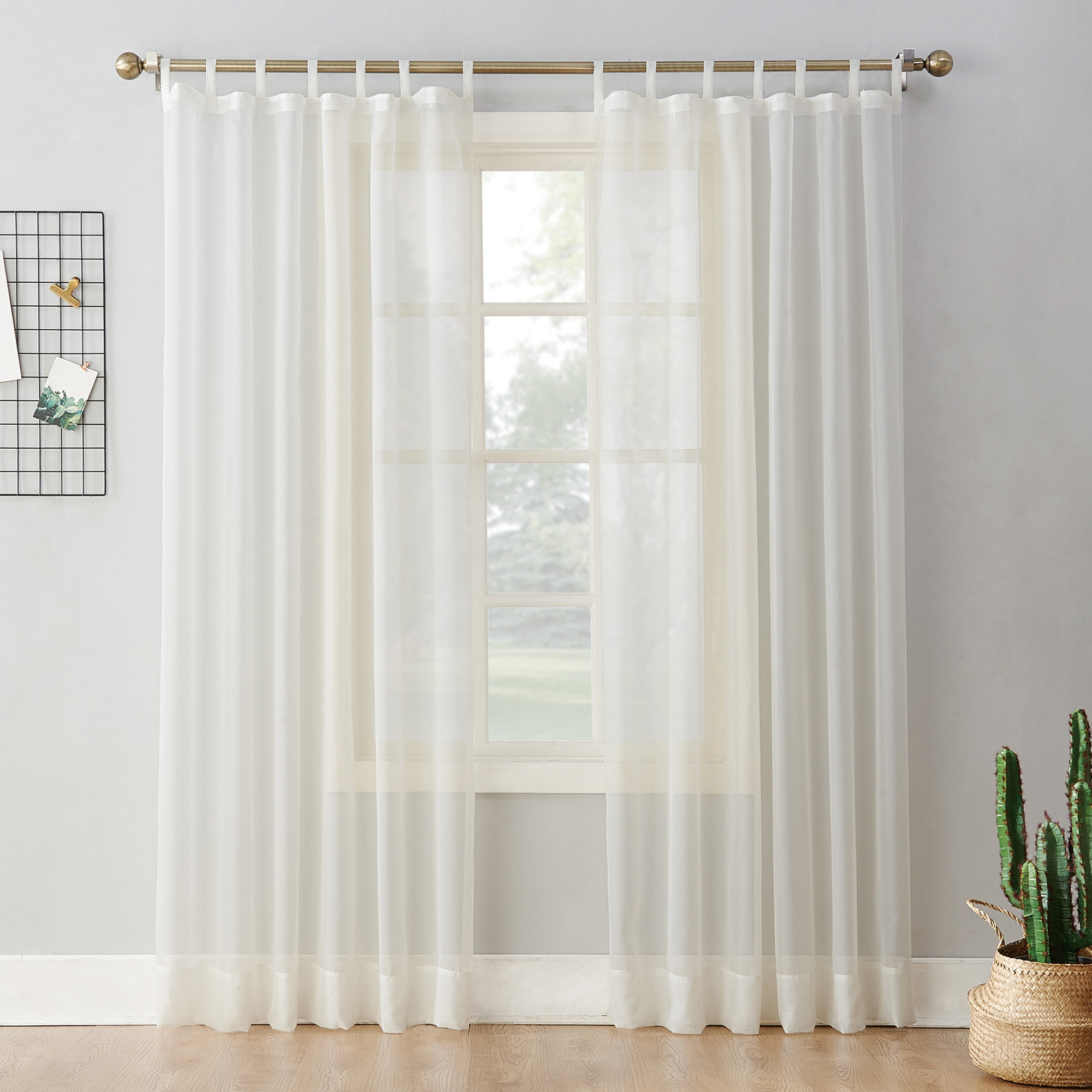 The curtains in the color Eggshell