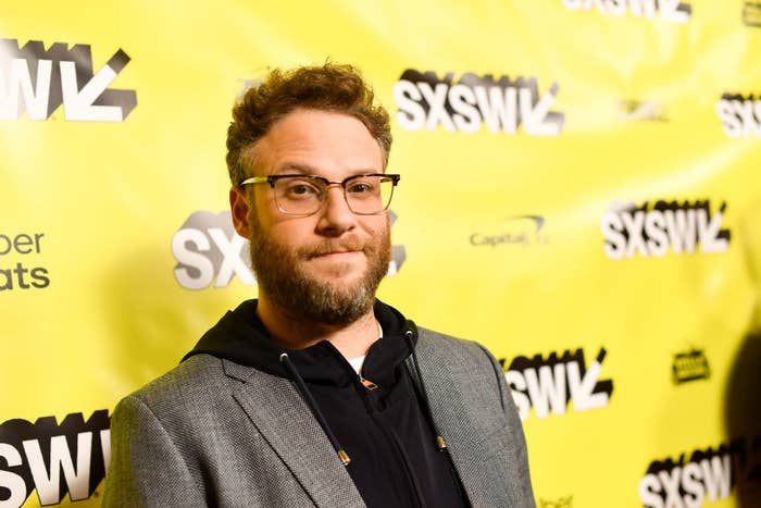 Seth Rogen poses for a photo at a South by Southwest event