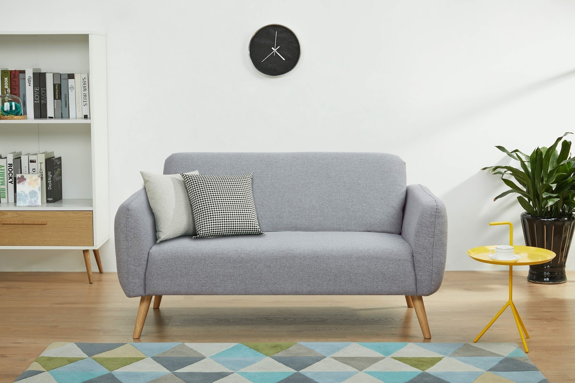 The loveseat in the color Light Grey