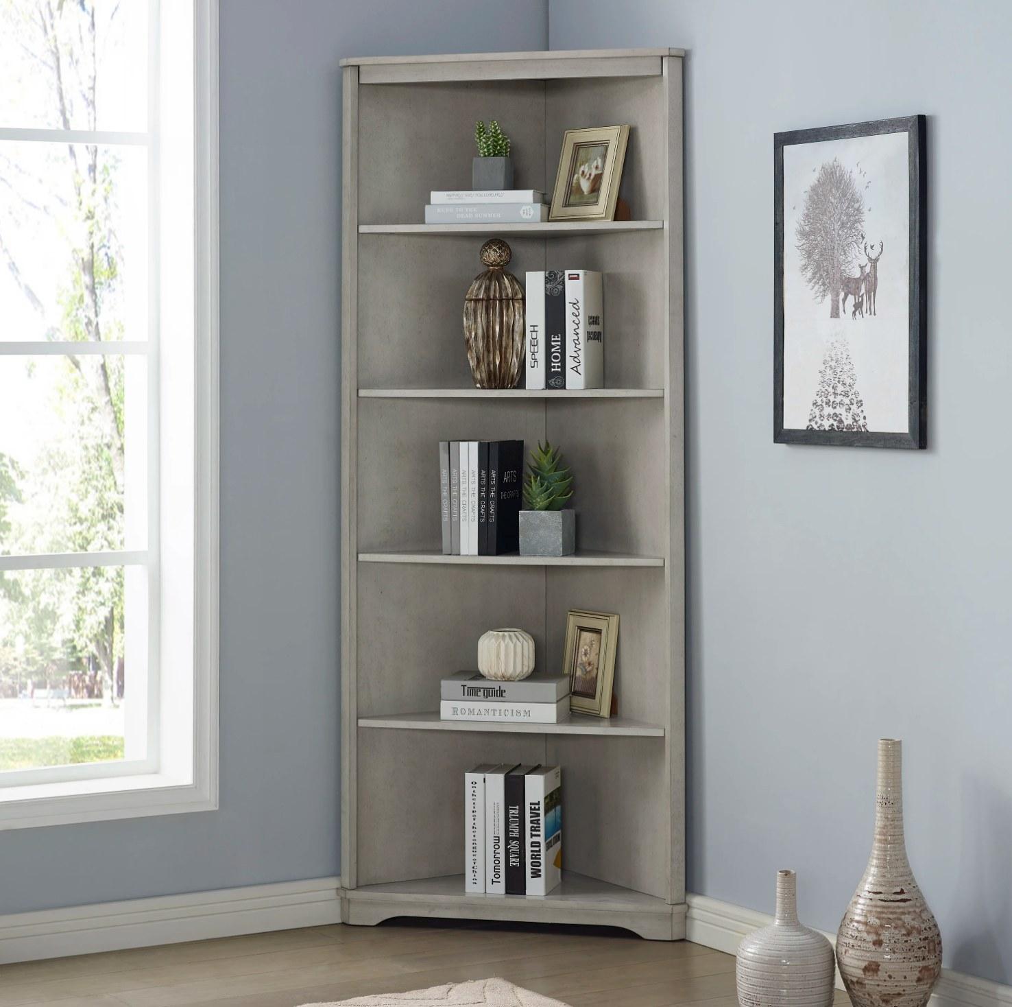 The bookcase in antique white