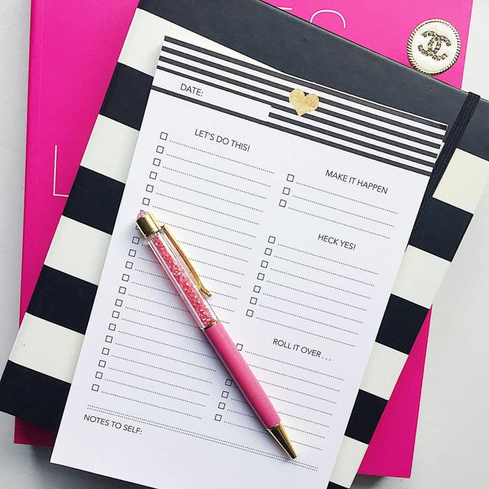 The planner notepad