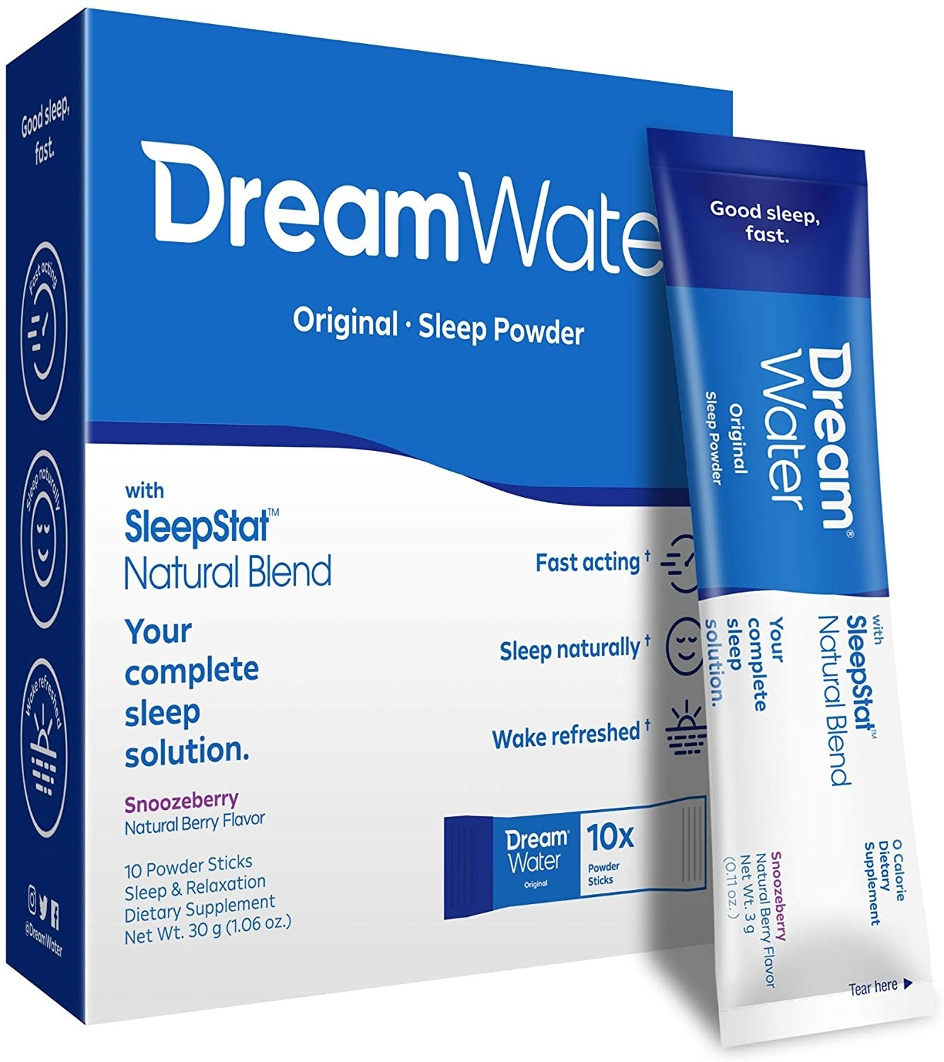 A box of the Dream Water