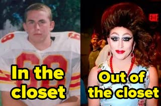 in and out of the closet