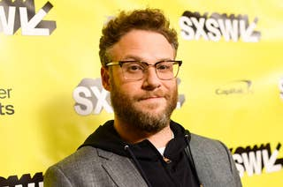 Seth Rogen on the red carpet