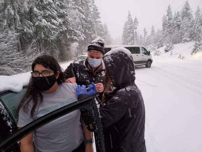 They Had Six COVID Vaccines Left And Were Stuck In The Snow — So They Started Knocking On Car Windows