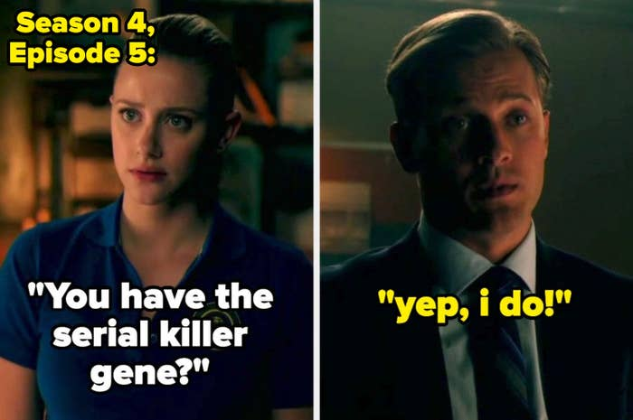 Betty and Charles talking about the serial killer gene