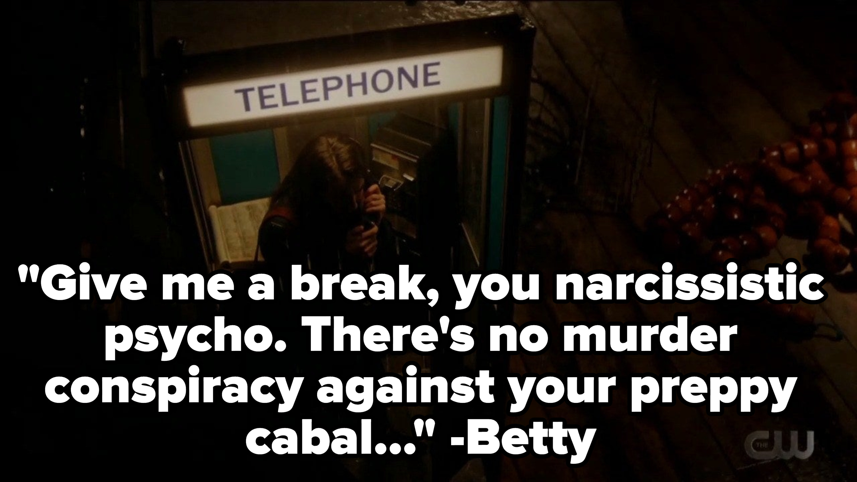Betty talking on the phone with Donna