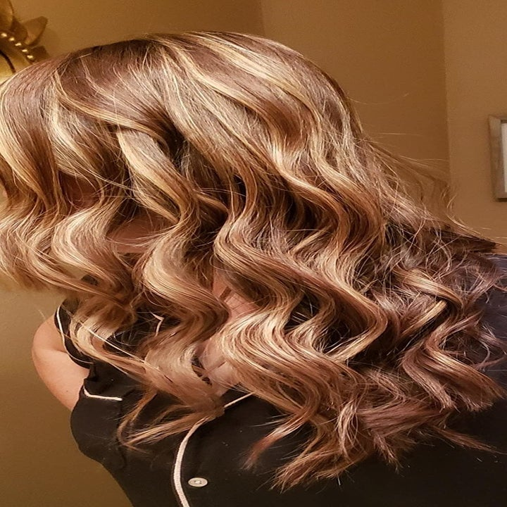 Reviewer hair after using curling iron