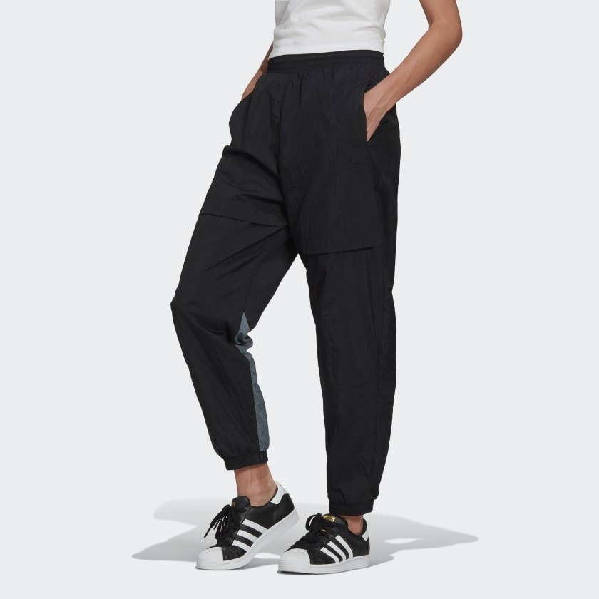 person wearing track pants