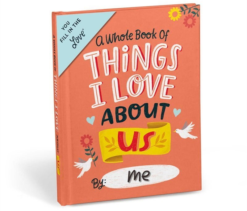 A small book that says A whole book of things about us