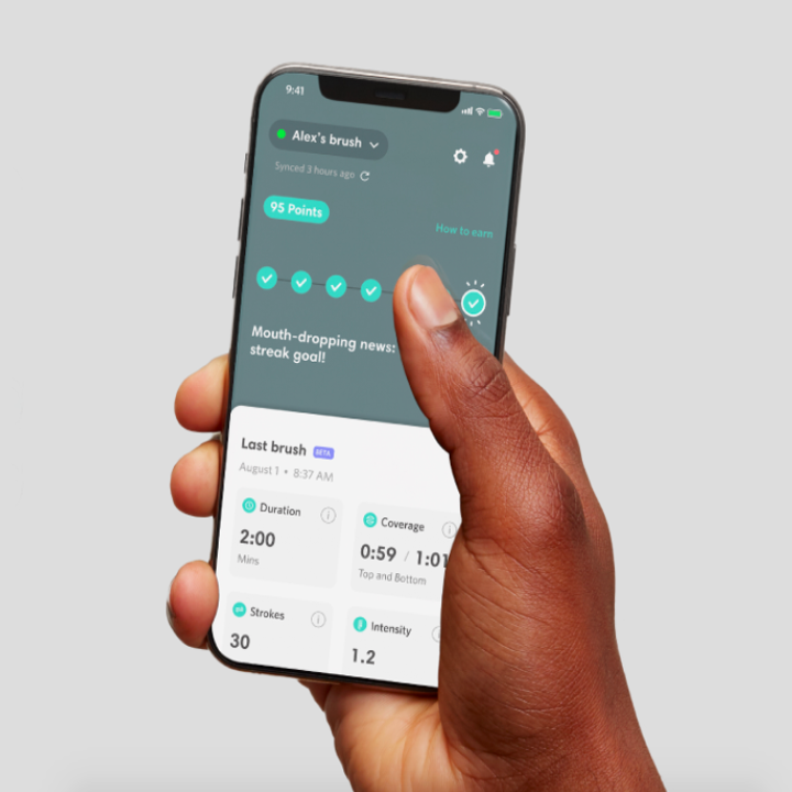 The app designed for the toothbrush