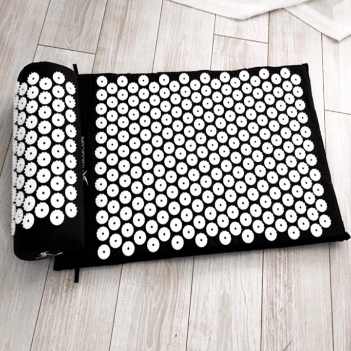 A customer review photo showing the mat and pillow