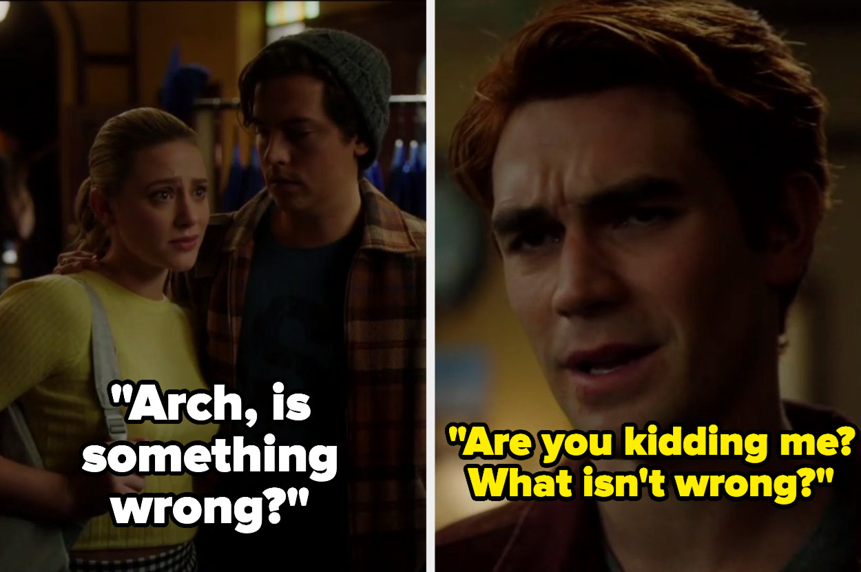 Betty asking Archie if he's okay