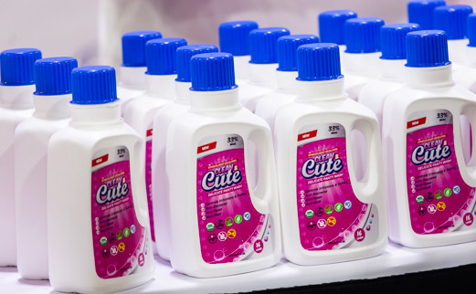several bottles of clean & cute panty wash