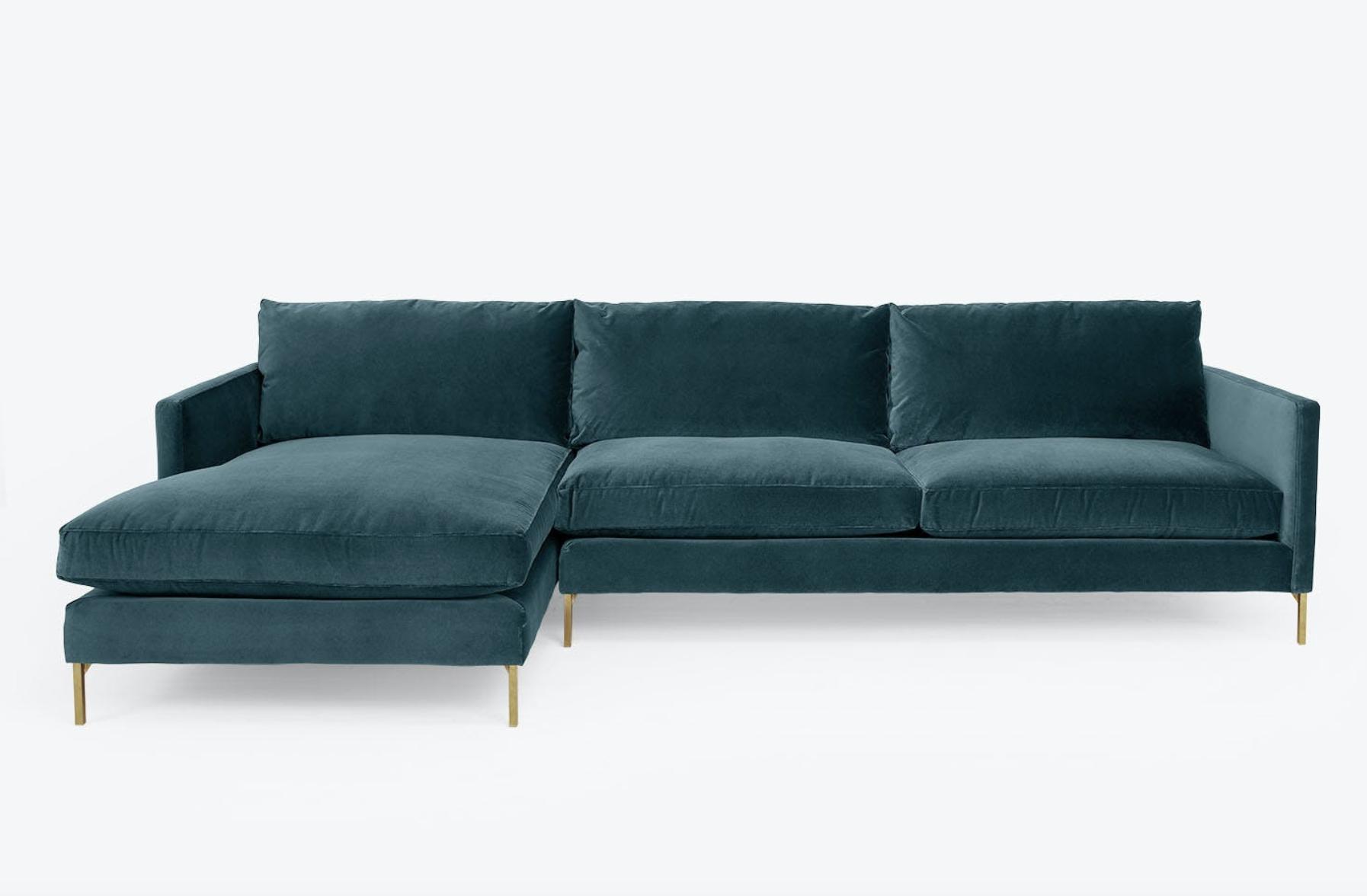 the blue sofa