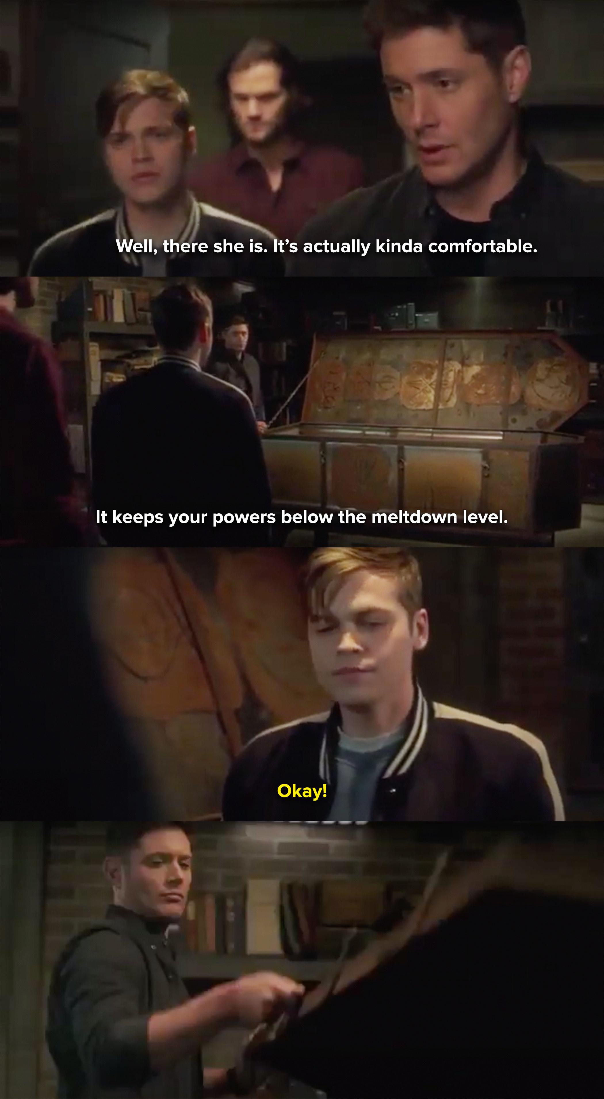 Dean convinces Jack to let him lock him inside a box