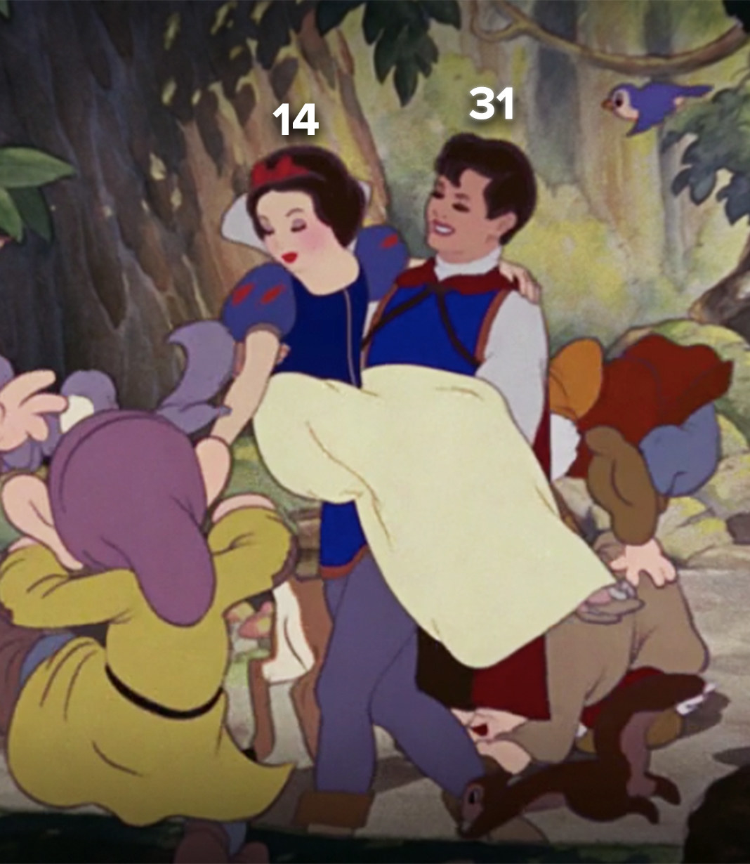 Snow White is 14, and Prince Florian is 31