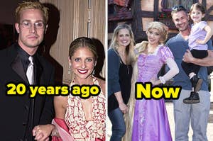 Freddie Prinze Jr. and Sarah Michelle Gellar 20 years ago vs. now