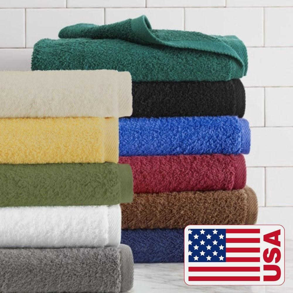 The towels in a variety of colors
