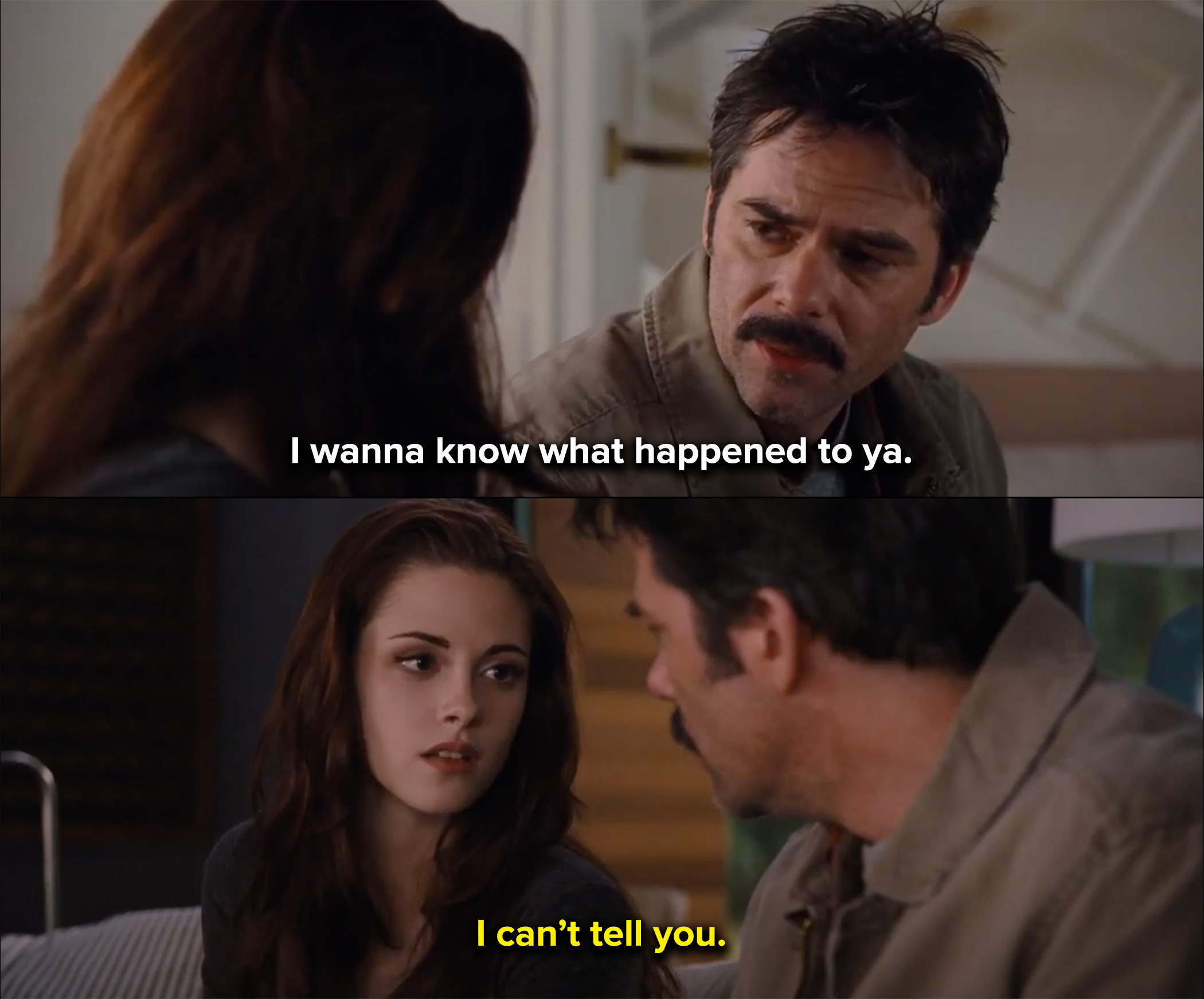 Bella refuses to tell her dad what happened to her