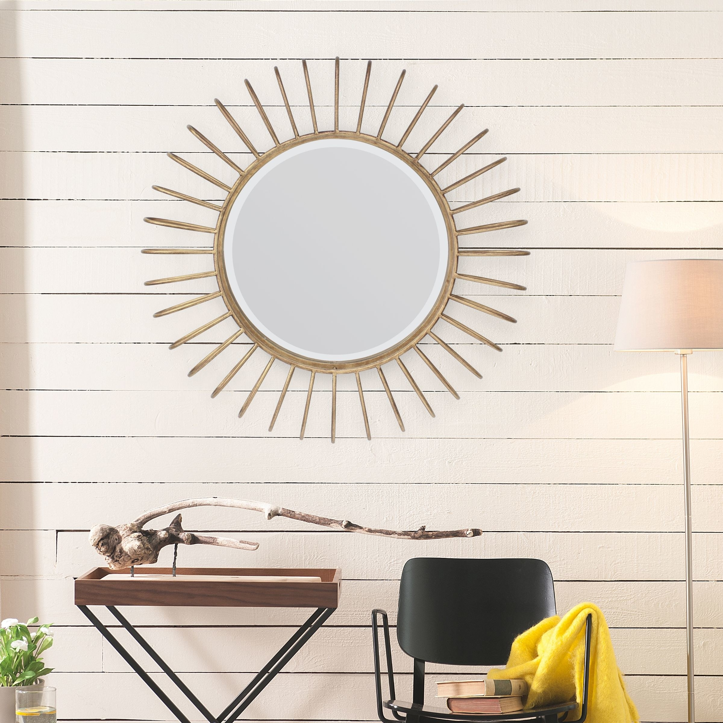 The wall mirror