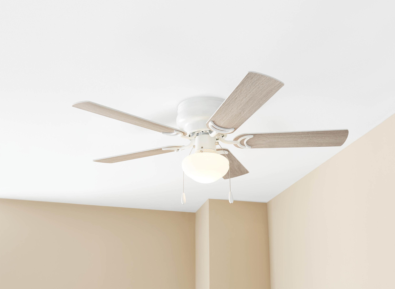 The white ceiling fan
