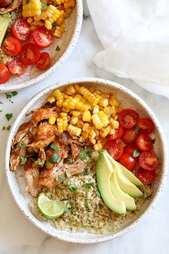 Chipotle Chicken Bowls With Cilantro Lime Quinoa
