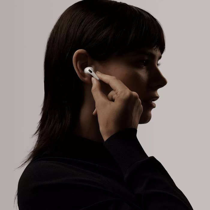 Person with an AirPod in their ear