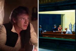 Side-by-side images of Han Solo and Nighthawks