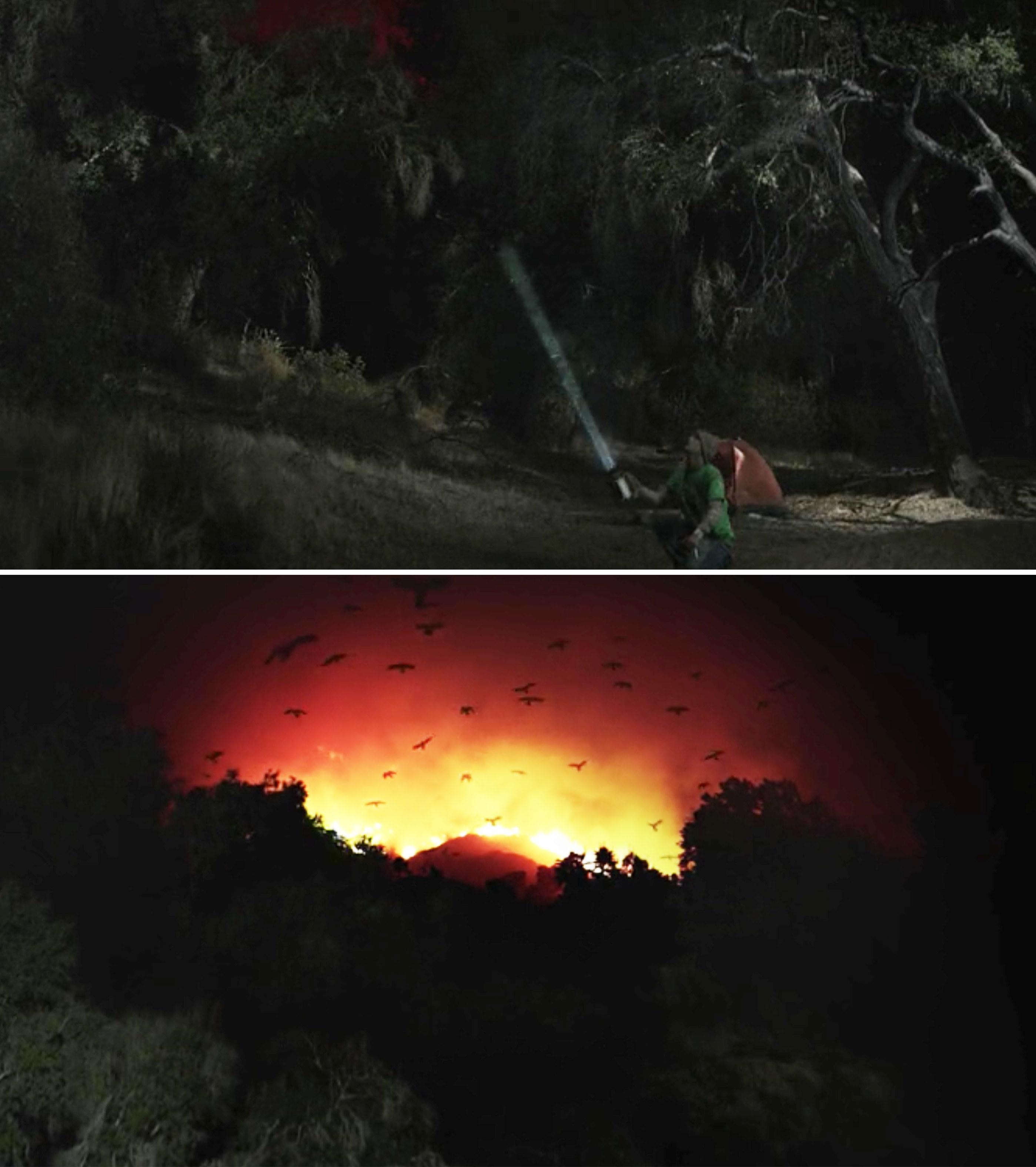 A massive wildfire on the horizon