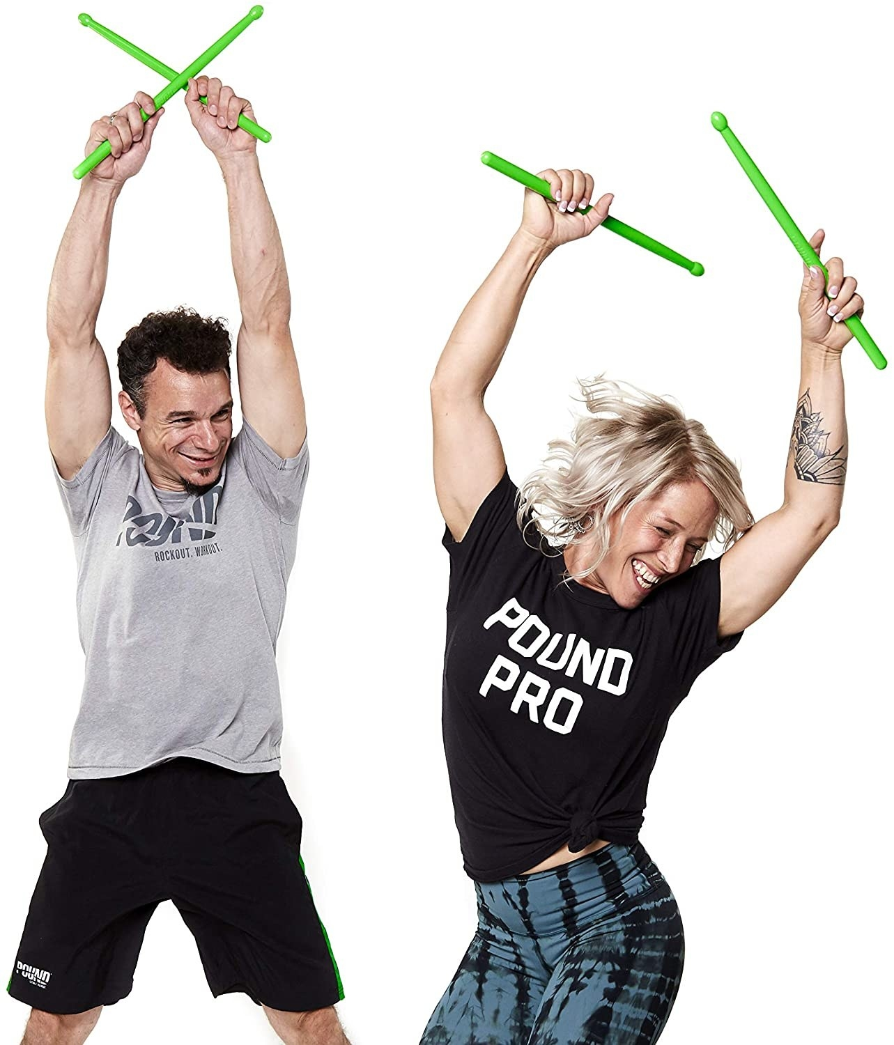 Two models using the green sticks