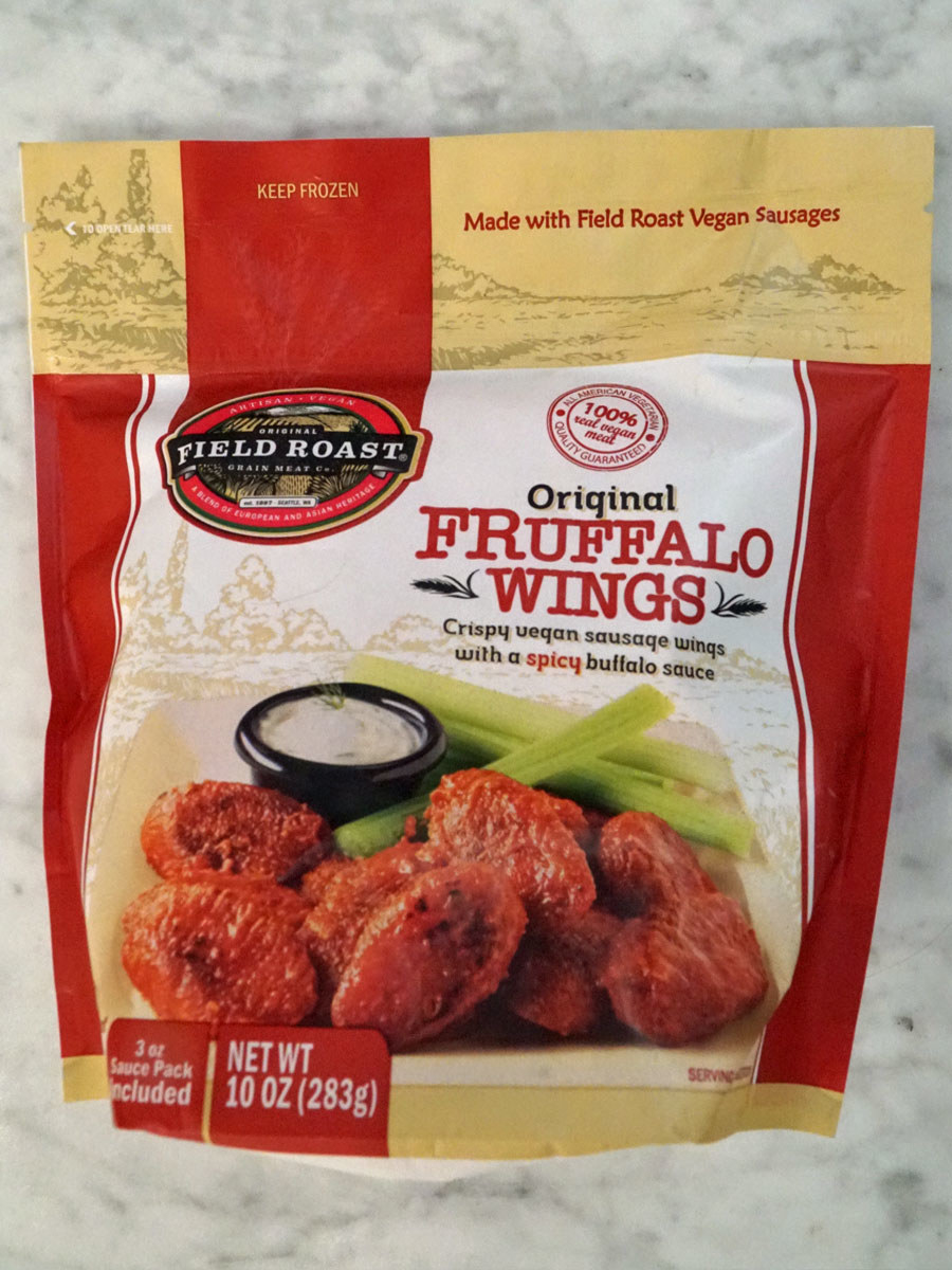 A bag of Fruffalo vegan wings
